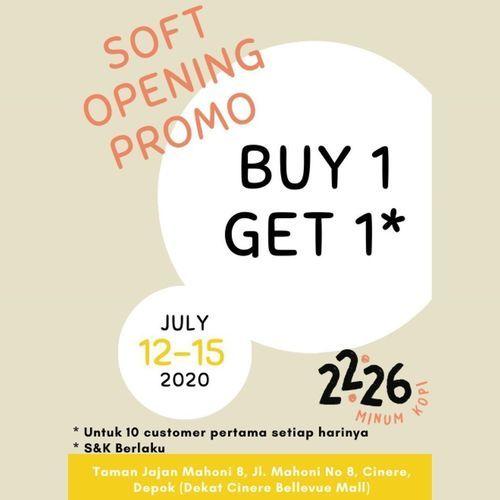 2226 MINUM KOPI SOFT OPENING PROMO BUY 1 GET 1 (26789787) di Kota Jakarta Selatan