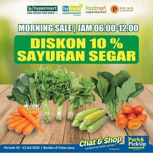 HYPERMART PAKUWON PROMO DISKON 10% SAYURAN SEGAR MORNING SALE (26801443) di Kota Surabaya