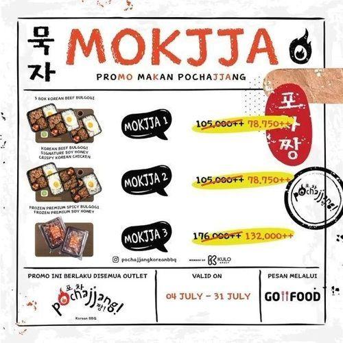 POCHAJJANG KOREAN BBQ PROMO MOKJJA DISKON 25% (26801787) di Kota Jakarta Selatan