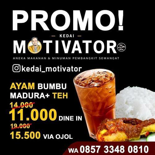 KEDAI MOTIVATOR PROMO DINE-IN DAN ATAU OJOL (26801815) di Kota Jakarta Selatan