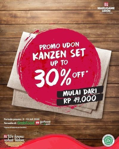 Marugame Udon Promo Udon Kanzen Set Up To 30% (26843623) di Kota Jakarta Selatan