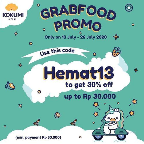 KOKUMI PROMO GRABFOOD 30% OFF (26846231) di Kota Jakarta Selatan