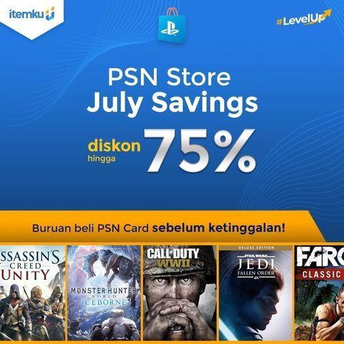 ITEMKU PROMO PSN Playstation Network Card Store Diskon hingga 75%! (26847859) di Kota Jakarta Selatan