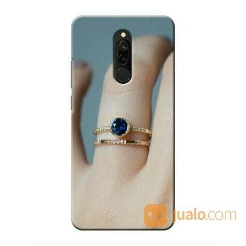 Blue Montana Sapphire Engagement Ring Xiaomi Redmi 8 Custom Hard Case (26872027) di Kota Bekasi