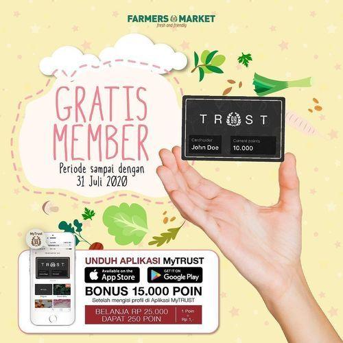 Farmers Market Gratis Member (26925139) di Kota Jakarta Selatan