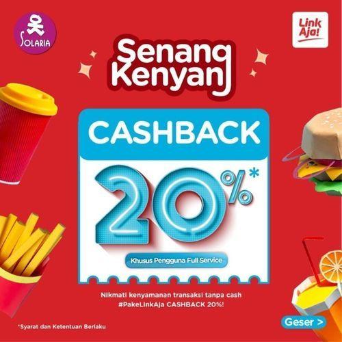 Solaria Promo Cashback 20% LinkAja (26925303) di Kota Jakarta Selatan