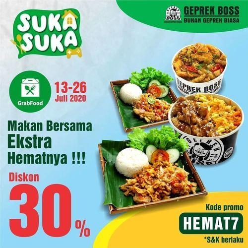 Geprek Boss Diskon 30% Off (26925311) di Kota Jakarta Selatan