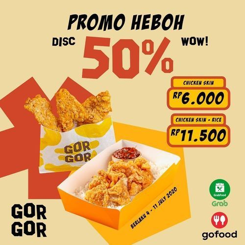 GOR GOR Promo Heboh Disc. 50% (26925447) di Kota Jakarta Selatan