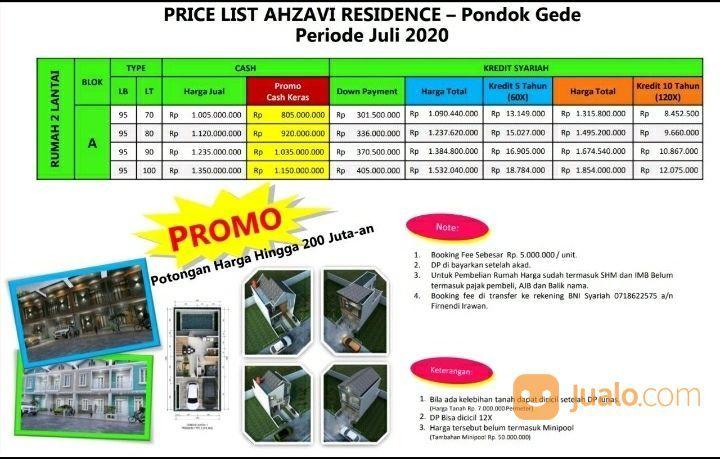 Rumah Di Pondok Gede Cicilan Syariah Ahzavi Residence (26926131) di Kota Bekasi