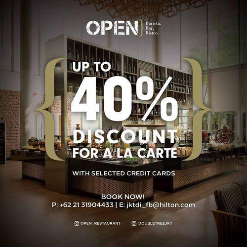 DoubleTree Disc. Up To 40% For A La Carte (26935627) di Kota Jakarta Barat