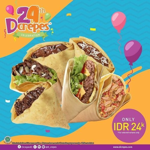 D'Crepes Promo Serba 24k (26936507) di Kota Jakarta Selatan
