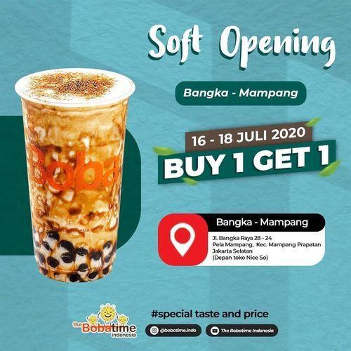 The Bobatime Soft Opening Promo Buy 1 Get 1 (26936571) di Kota Jakarta Selatan