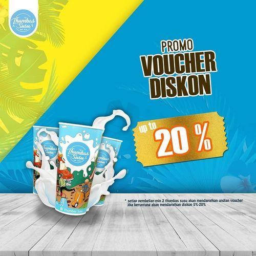 THUMBAS SUSU PROMO VOUCHER DISKON UP TO 20% (26956187) di Kota Malang