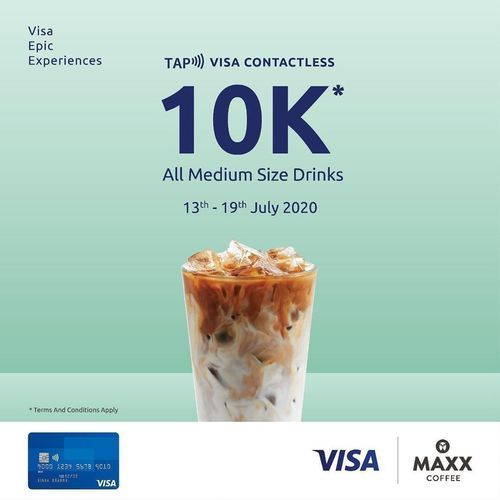 MAXX COFFEE PROMO DENGAN Visa Contactless (26956331) di Kota Jakarta Selatan