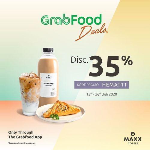 MAXX COFFEE DISKON GRABFOOD DEALS HEMAT S/D 35% (26956399) di Kota Jakarta Selatan