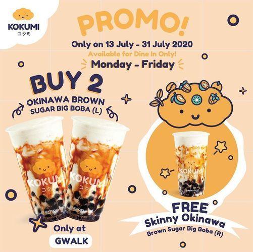 KOKUMI PROMO BUY 2 OKINAWA BROWN SUGAR BOBA FREE 1 BROWN SUGAR BIG BOBA (R) (26959619) di Kota Jakarta Selatan