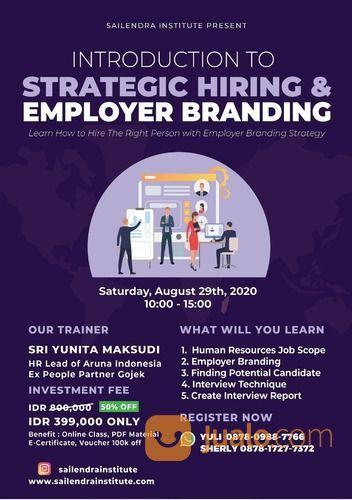 Strategic Hiring & Employer Branding Online Class (26989203) di Kota Surabaya