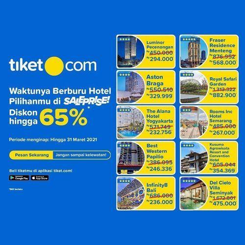 TIKET.COM PROMO SALEPRICE DISKON HINGGA 65% STAYCATION (26994443) di Kota Jakarta Selatan