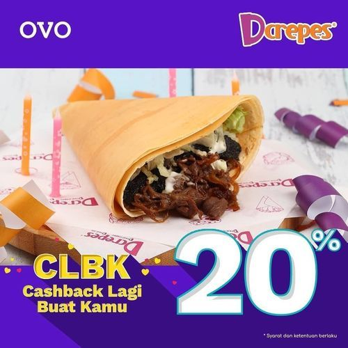 D'CREPES PROMO CASHBACK 20% JULI INI DENGAN OVO (26994495) di Kota Jakarta Selatan
