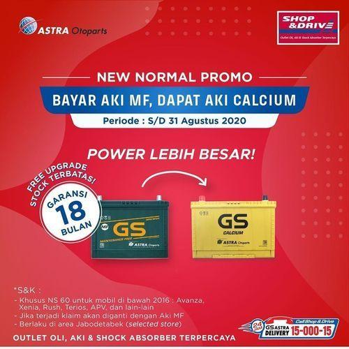 Shop And Drive Free Upgrade Aki dari GS Maintenance Free ke GS Calcium (26997663) di Kota Jakarta Selatan