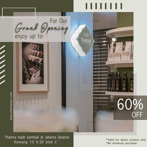 Thamra Promo Grand Opening 60% Off (27014691) di Kota Jakarta Selatan