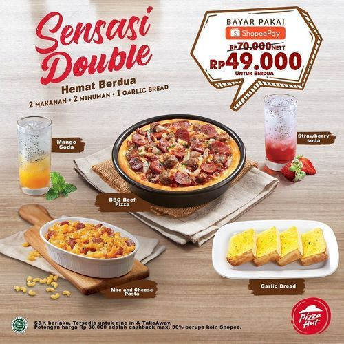 Pizza Hut Promo Sensasi Double (27015371) di Kota Jakarta Selatan