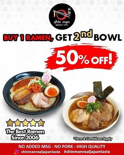 Shin Men Japanase Resto Buy 1 Ramen Get 2nd Bowl (27029255) di Kota Jakarta Selatan