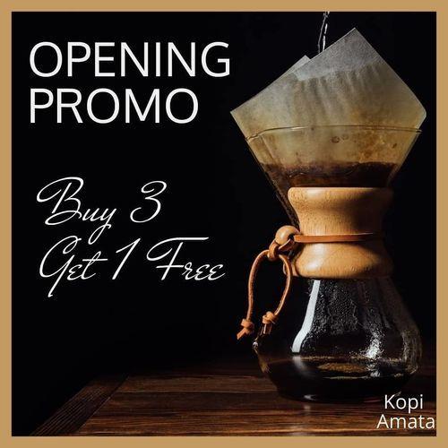 Kopi Amata - Opening Promo Buy 3 Get 1 Free (27030839) di Kota Jakarta Selatan