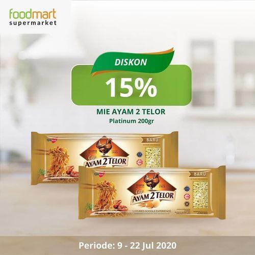 FOODMART SUPERMARKET PROMO DISKON 15% MIE CAP AYAM 2 TELOR (27035387) di Kota Jakarta Selatan