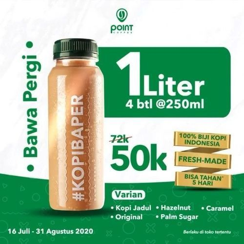 POINT COFFEE PROMO 1 LITER 4 FOR 50K (27038859) di Kota Jakarta Timur