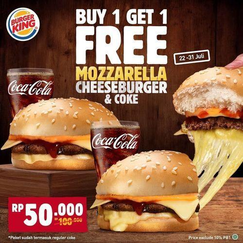 Burger King - Buy 1 Get 1 (27039359) di Kota Jakarta Selatan