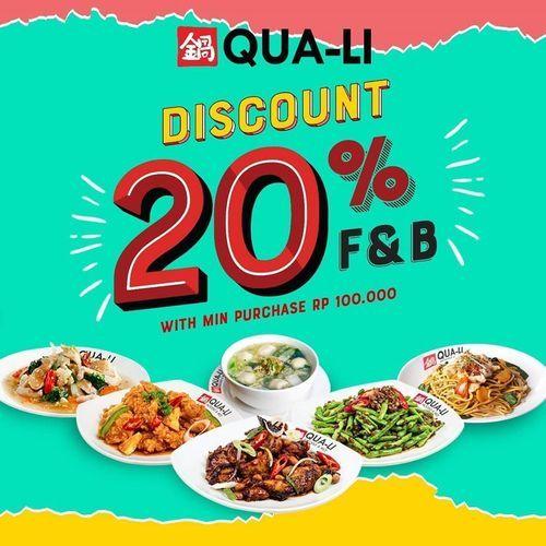Qua Li - Discount 20% (27040527) di Kota Yogyakarta