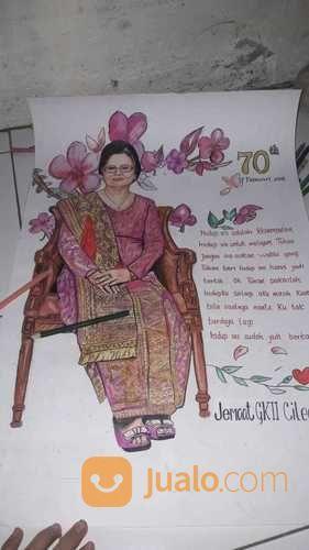 Sketsa Wajah Dan Karikatur Handmade Cocok Untuk Kado Ulang Tahun, Wedding, Wisuda, Farewell (27076911) di Kab. Tangerang