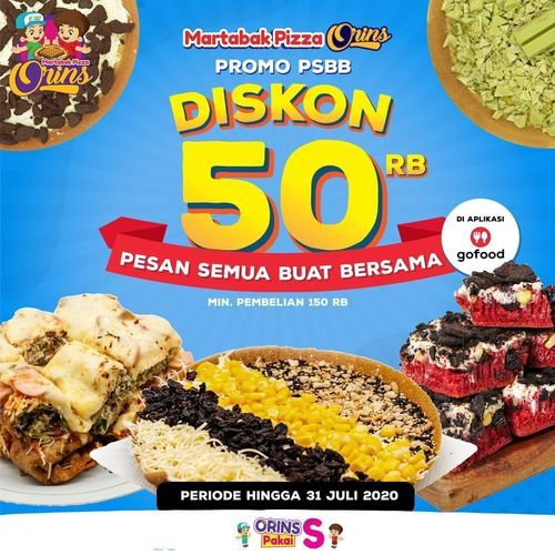 Martabak Pizza Orins Diskon 50rb (27081603) di Kota Jakarta Selatan
