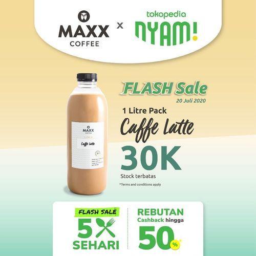 MAXX COFFEE PROMO 1 LITRE PACK COFFE LATTE (27095435) di Kota Jakarta Selatan