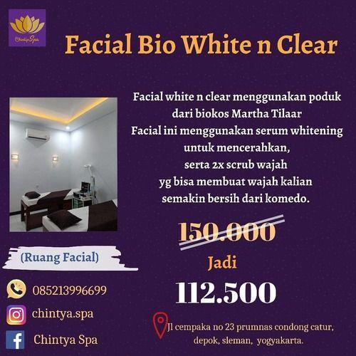 CHINTYA SPA PROMO FACIAL BIO WHITE N CLEAR (27095671) di Kota Yogyakarta