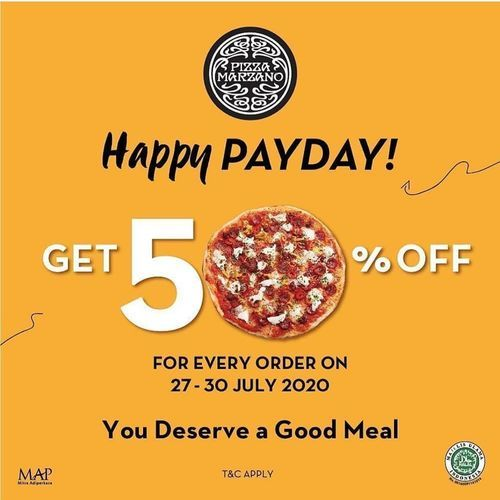 Pizza Marzano Payday Promo 50% Off (27097203) di Kota Jakarta Selatan