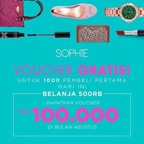 SOPHIE PARIS PROMO VOUCHER GRATIS SENILAI 100.000 (27143507) di Kota Jakarta Selatan