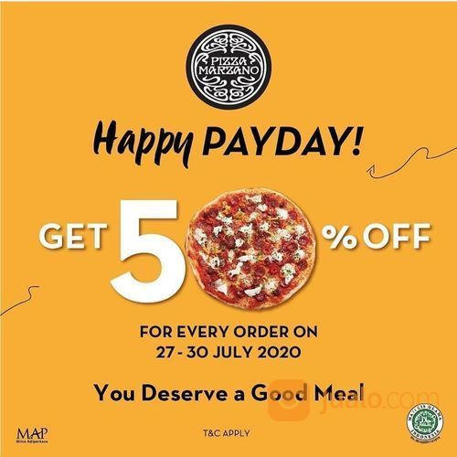 PIZZA MARZANO PROMO HAPPY PAYDAY GET 50% OFF (27143895) di Kota Jakarta Selatan