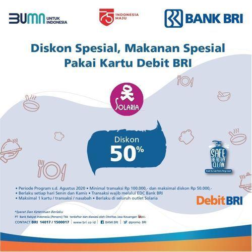 SOLARIA RESTO PROMO DENGAN BANK BRI (27144099) di Kota Jakarta Selatan