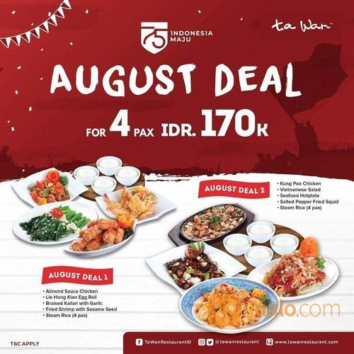 Ta Wan Restaurant Promo August Deal (27172059) di Kota Jakarta Selatan