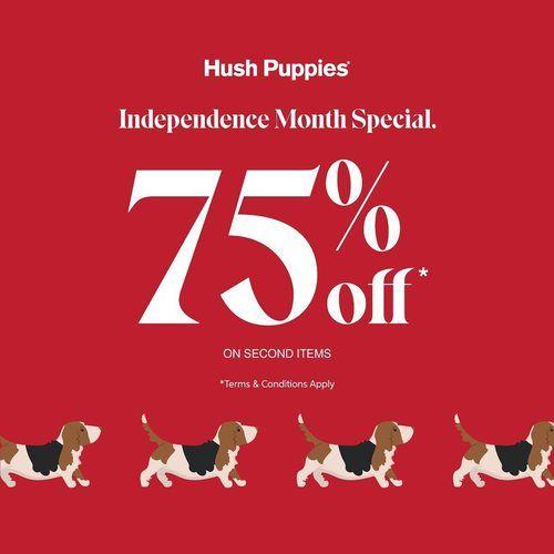 Hush Puppies Promo Independence Month Special 75% Off (27184171) di Kota Jakarta Selatan