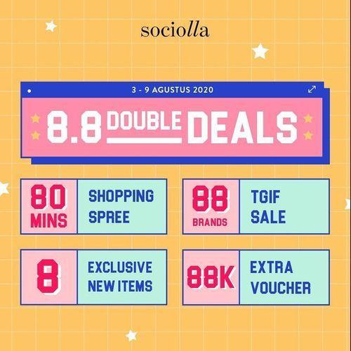 SOCIOLLA DOUBLE DATE PROMO DOUBLE DEALS (27208631) di Kota Jakarta Selatan