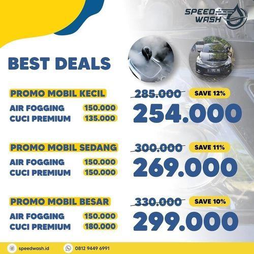 speed wash promo best deals cuci mobil (27218623) di Kota Jakarta Selatan