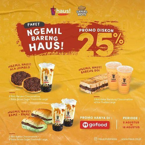 HAUS! Promo Diskon 25% GoFood (27221887) di Kota Jakarta Selatan