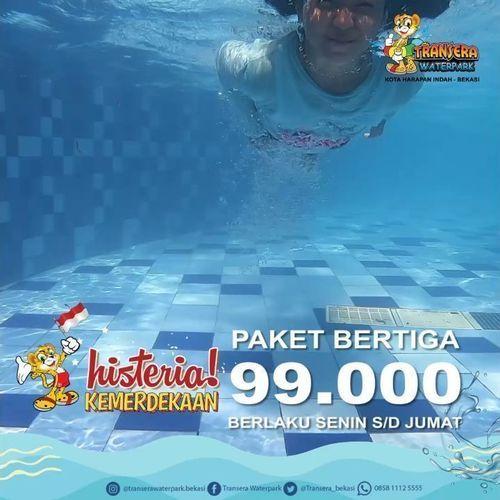 Transera Waterpark Paket Bertiga 99.000 (27225259) di Kota Jakarta Selatan