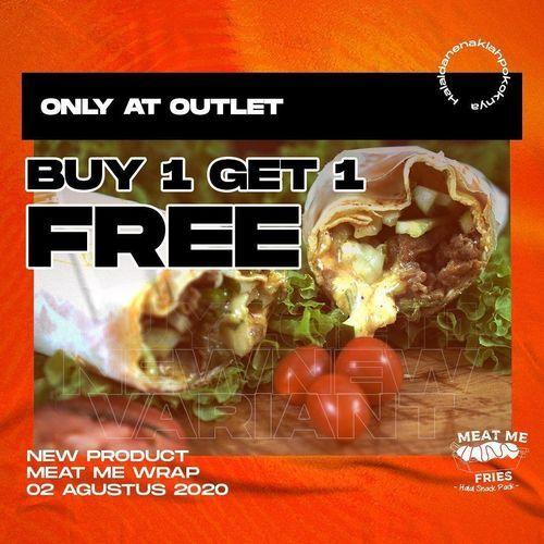 MEAT ME FRIES PROMO OUTLET BUY 1 GET 1 FREE (27227407) di Kota Jakarta Selatan