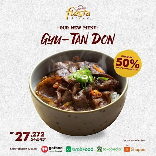 Fiesta Steak DISKON 50% Gyu-Tan Don (27253475) di Kota Jakarta Selatan