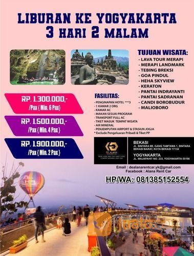 PAKET LIBURAN 3 HARI 2 MALAM YOGYAKARTA ALL IN (27281271) di Kota Bekasi