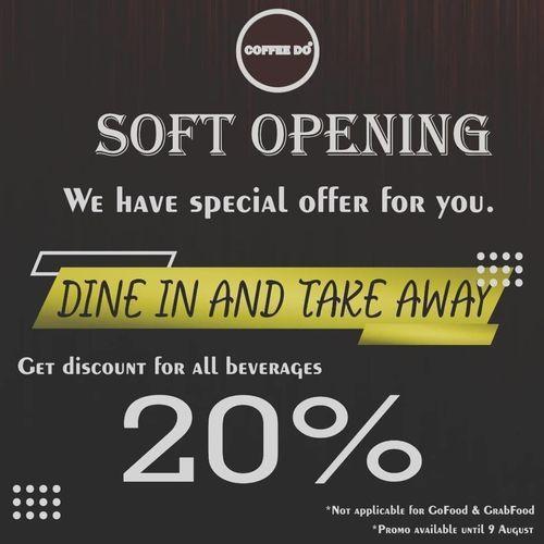 COFFEEDO PROMO DINE-IN AND TAKE AWAY DISKON 20% (27292143) di Kota Jakarta Selatan